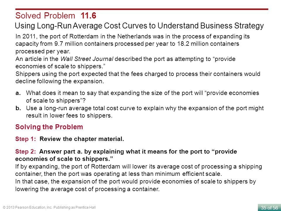 Solved Problem 11.6 Using Long-Run Average Cost Curves to Understand Business Strategy.