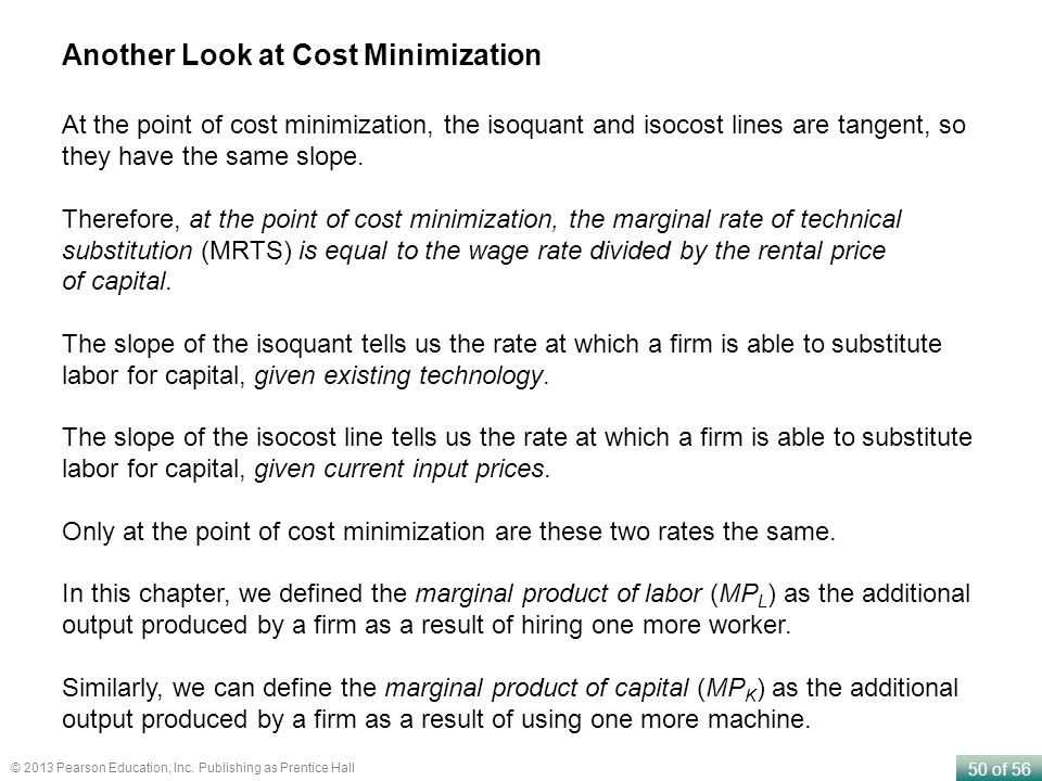 Another Look at Cost Minimization