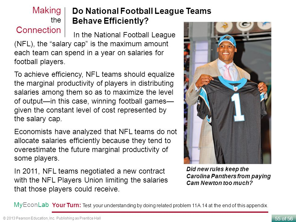 Making the Connection Do National Football League Teams Behave Efficiently In the National Football League.