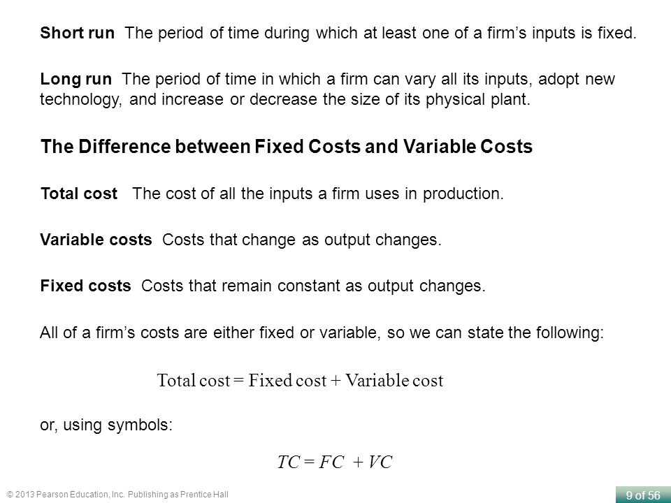 The Difference between Fixed Costs and Variable Costs