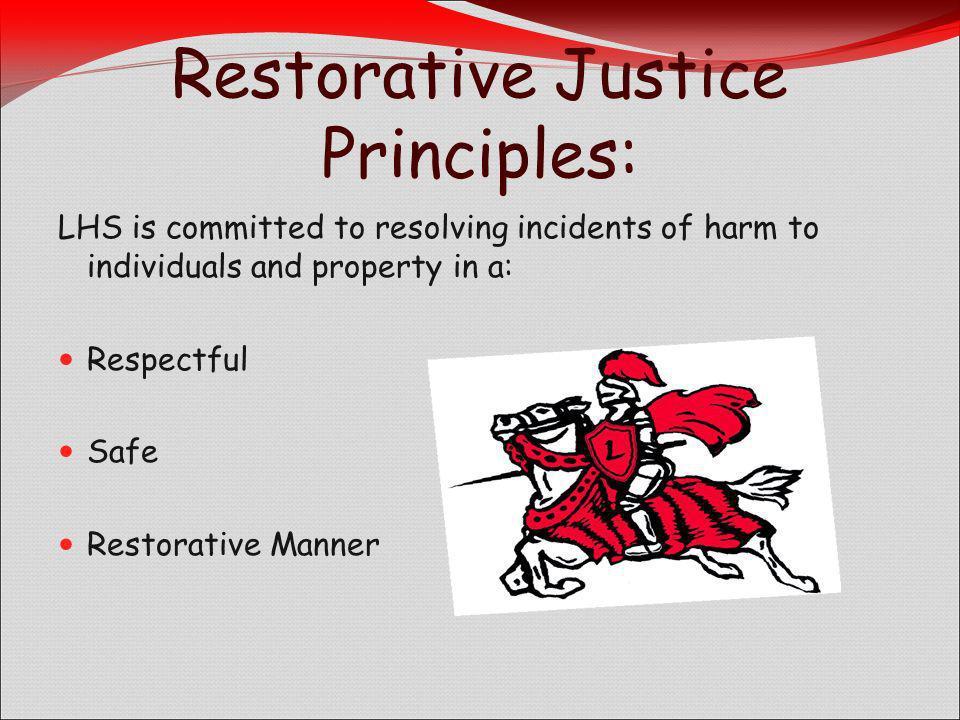 Restorative Justice Principles: