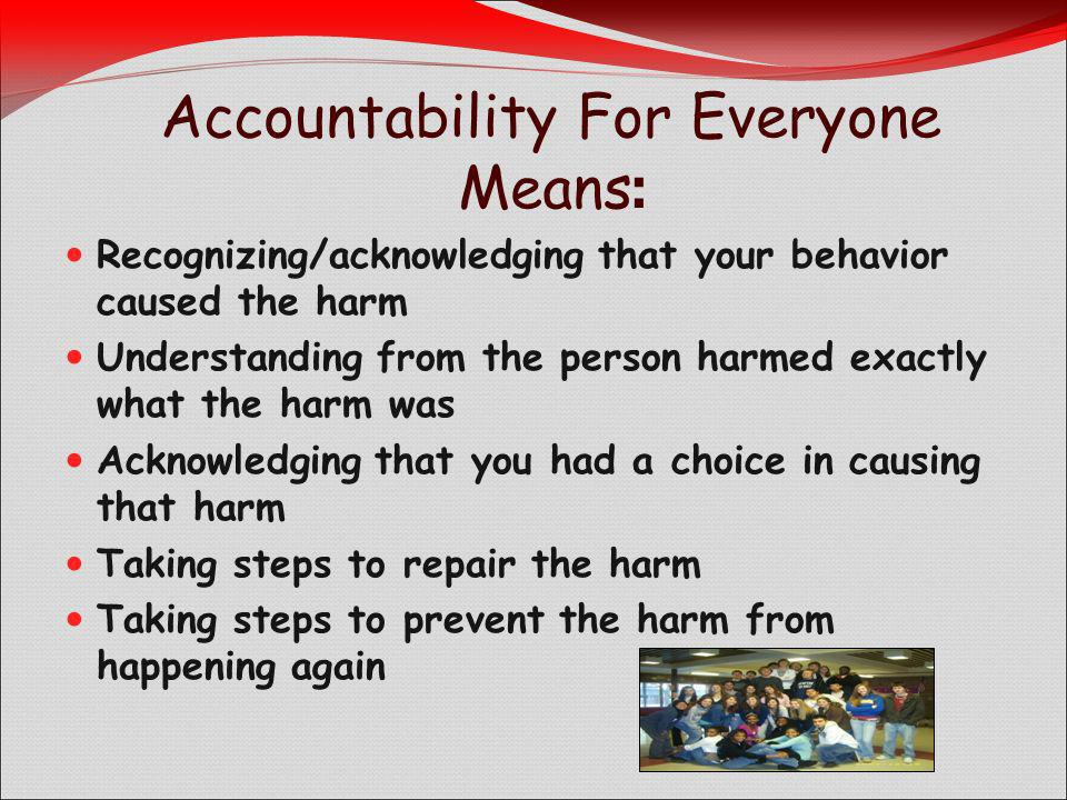 Accountability For Everyone Means: