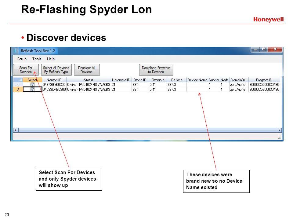 Re-Flashing Spyder Lon