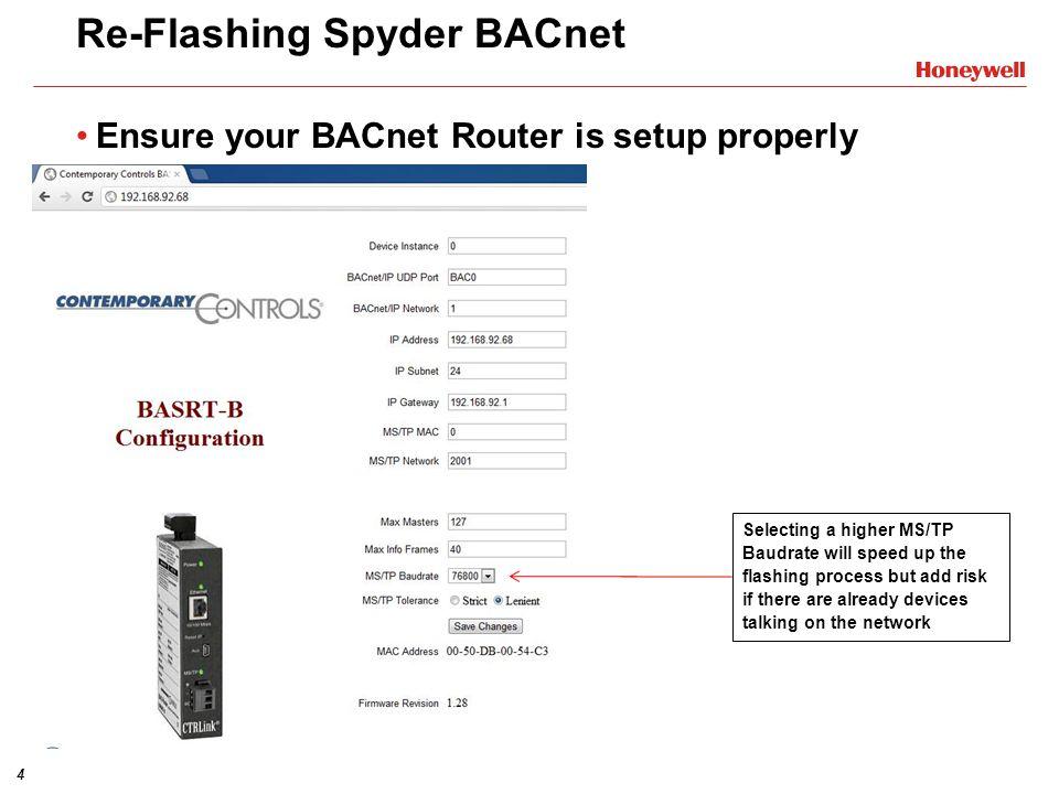 Re-Flashing Spyder BACnet