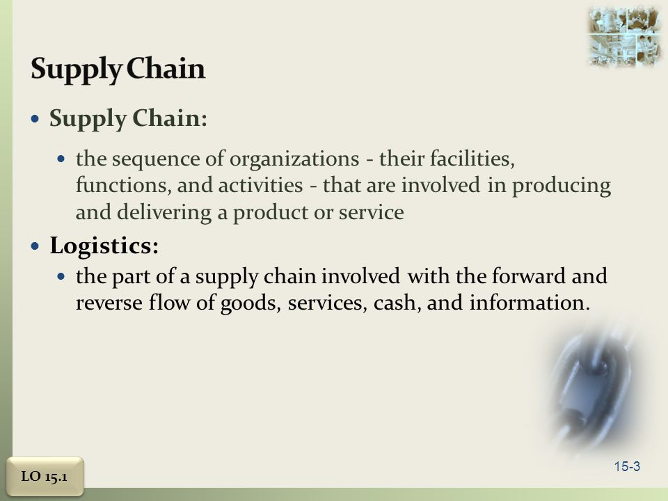 Supply Chain Supply Chain: Logistics: