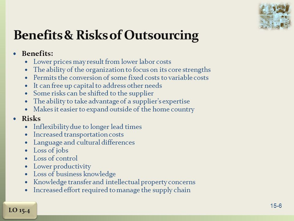 Benefits & Risks of Outsourcing