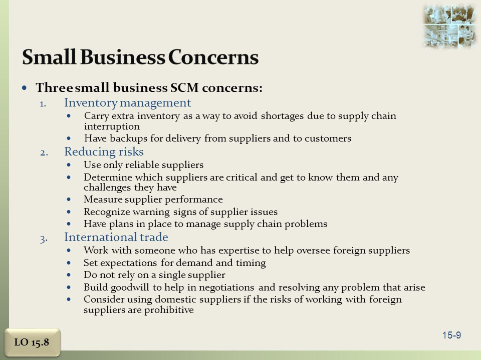 Small Business Concerns