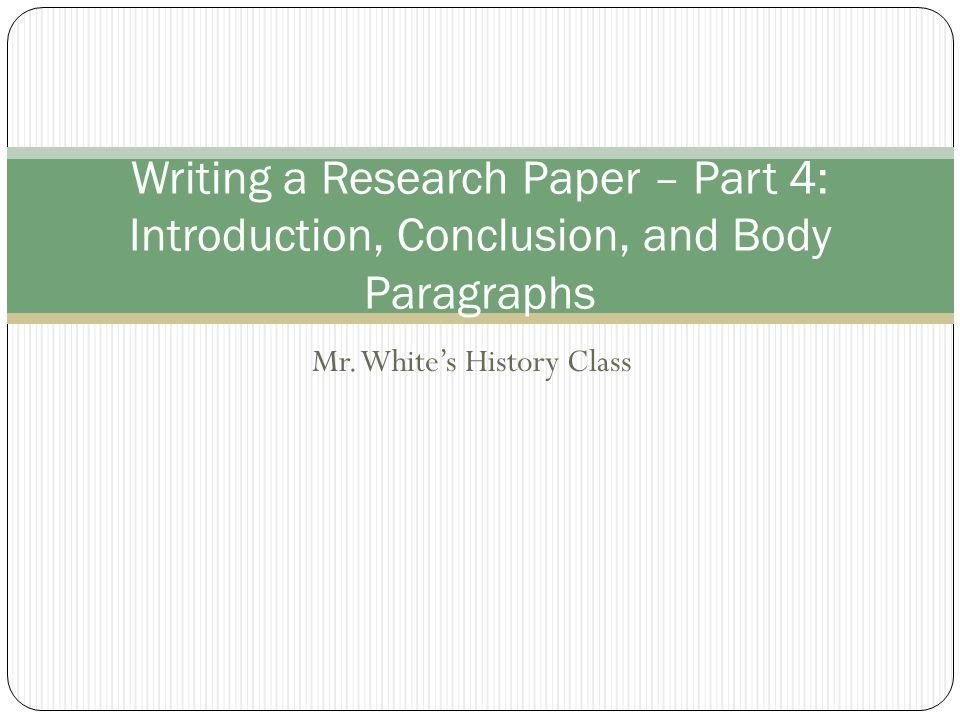 Mr. White's History Class