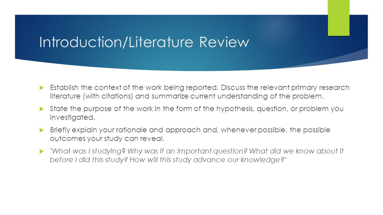 Introduction/Literature Review