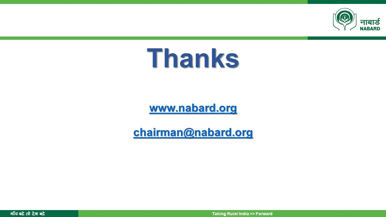 Thanks www.nabard.org chairman@nabard.org