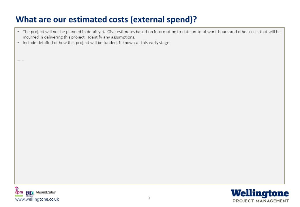 What are our estimated costs (external spend)