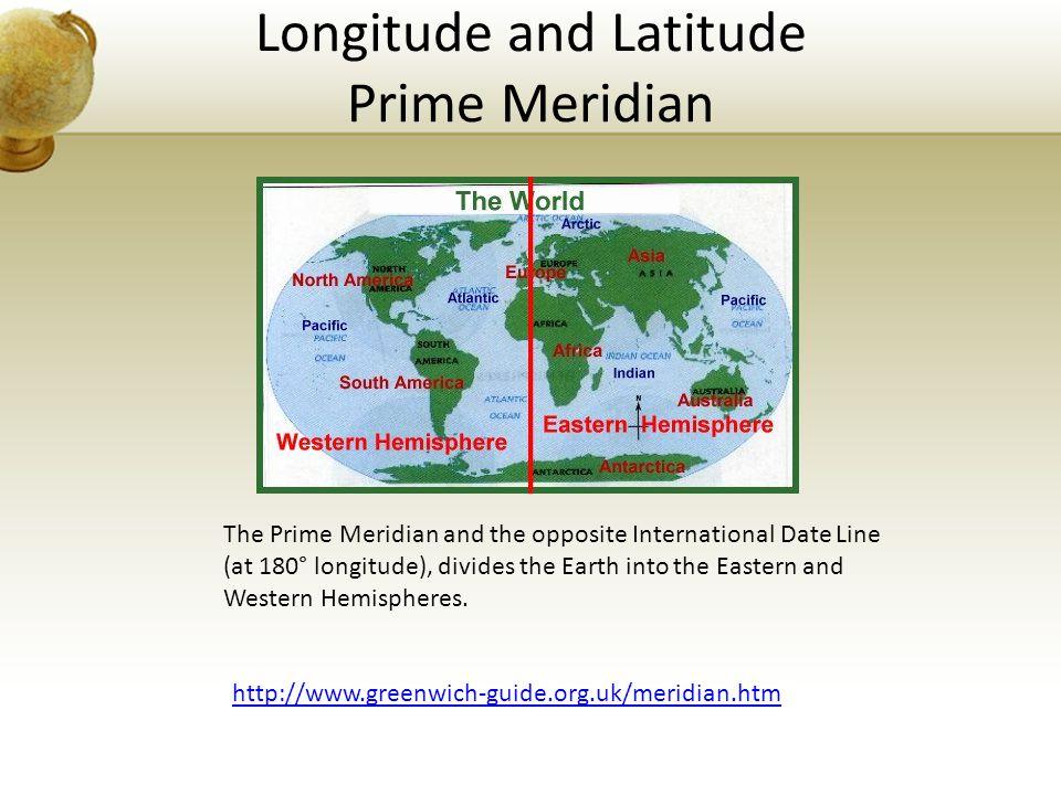 Longitude and Latitude Prime Meridian