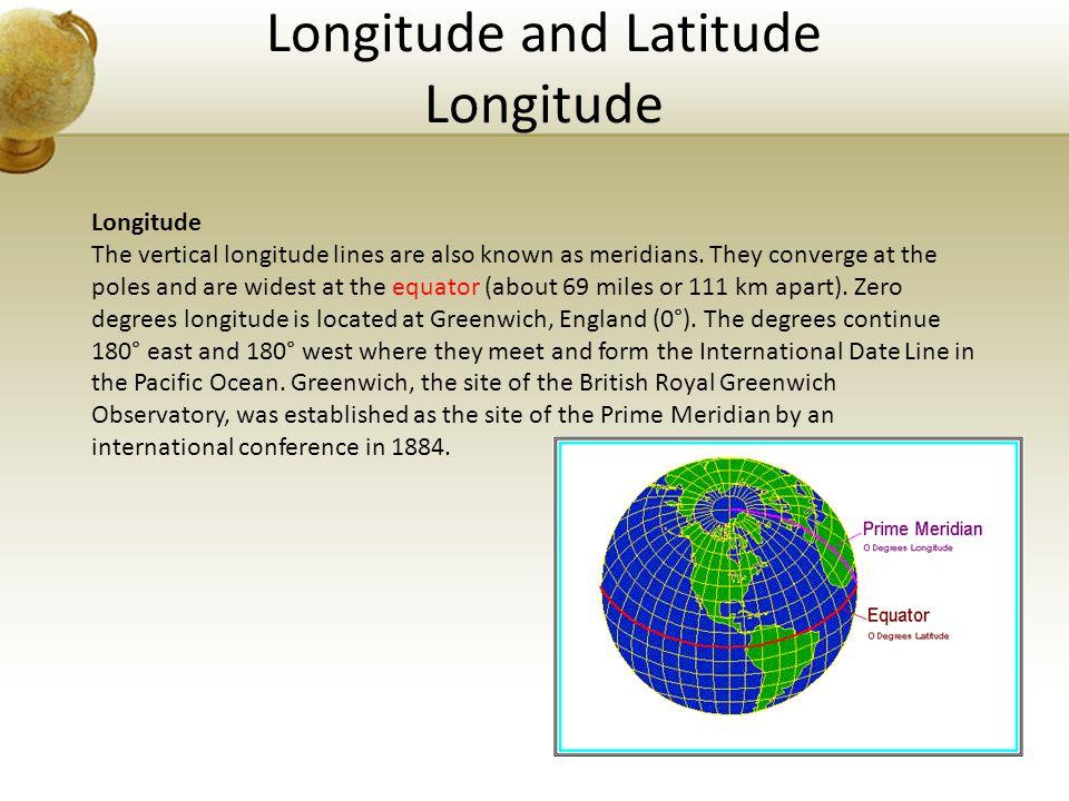 Longitude and Latitude Longitude