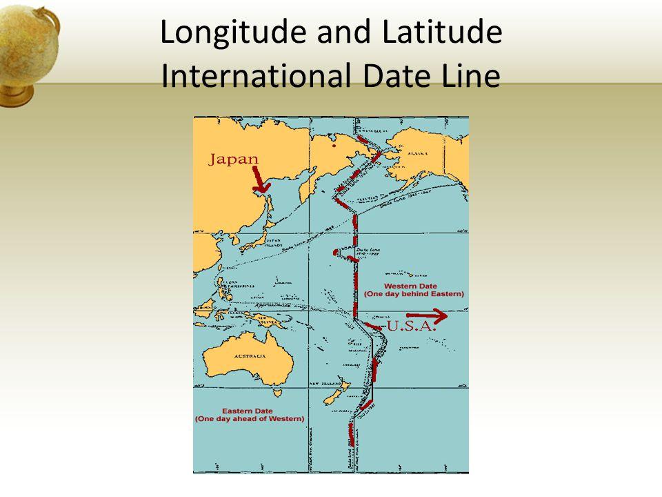 Longitude and Latitude International Date Line