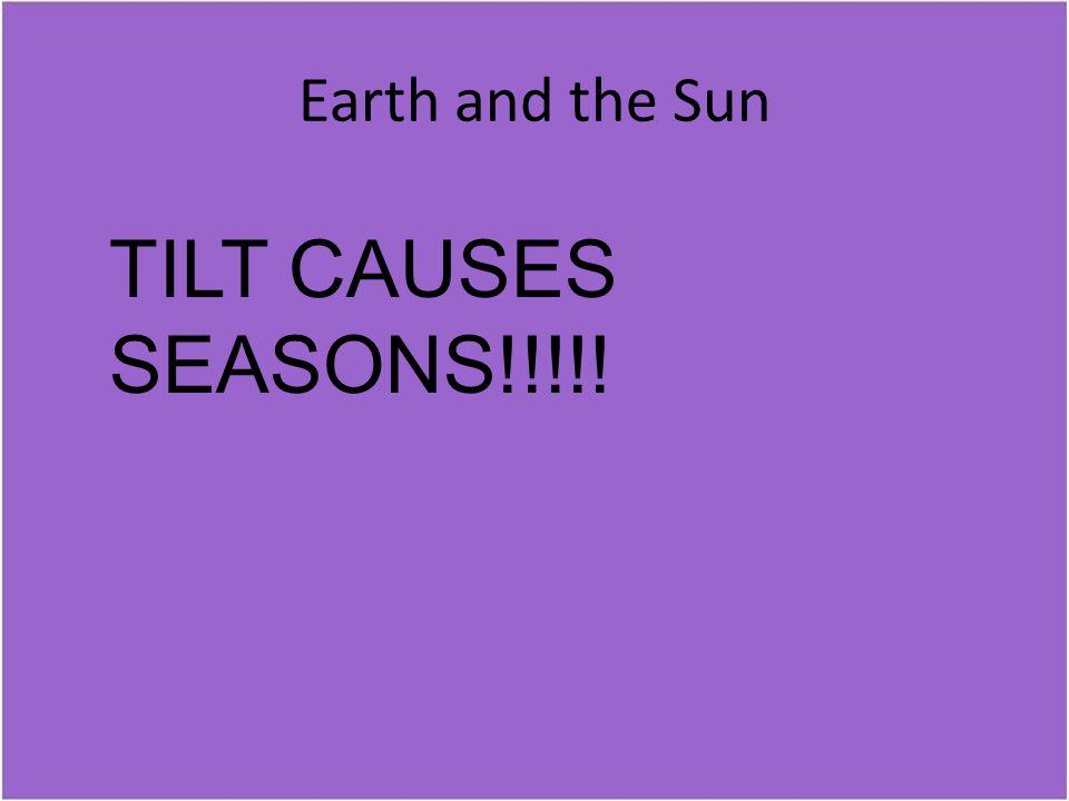 Earth and the Sun TILT CAUSES SEASONS!!!!!