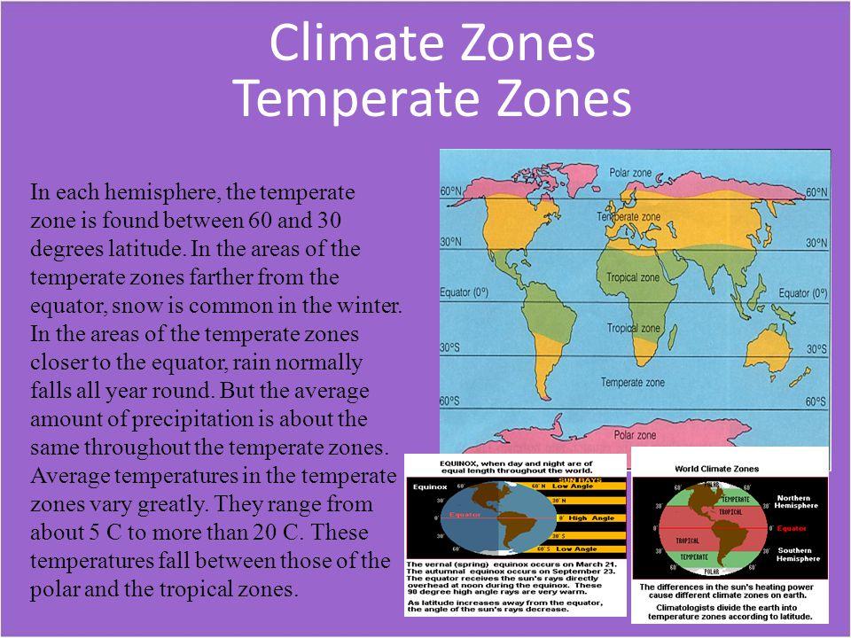 Climate Zones Temperate Zones