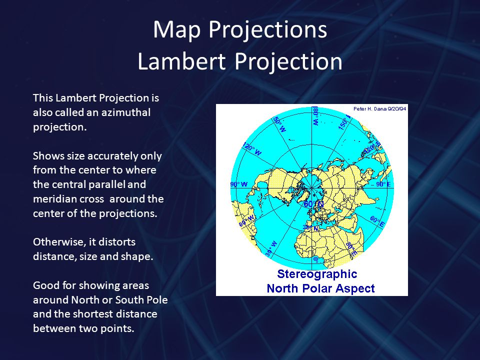 Map Projections Lambert Projection