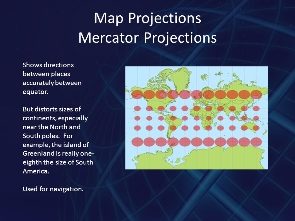 Map Projections Mercator Projections
