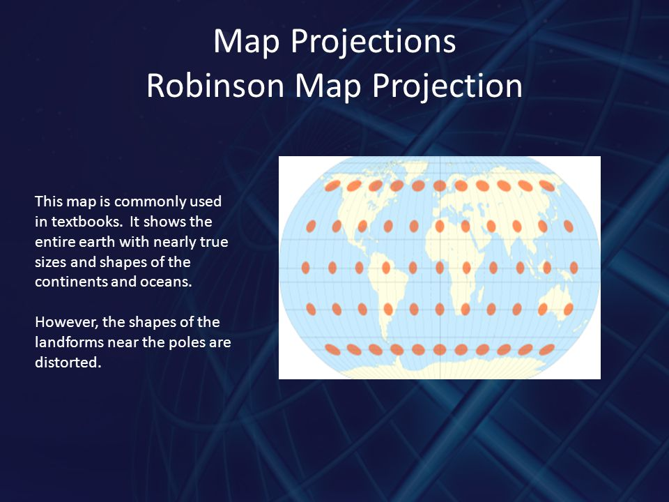 Map Projections Robinson Map Projection