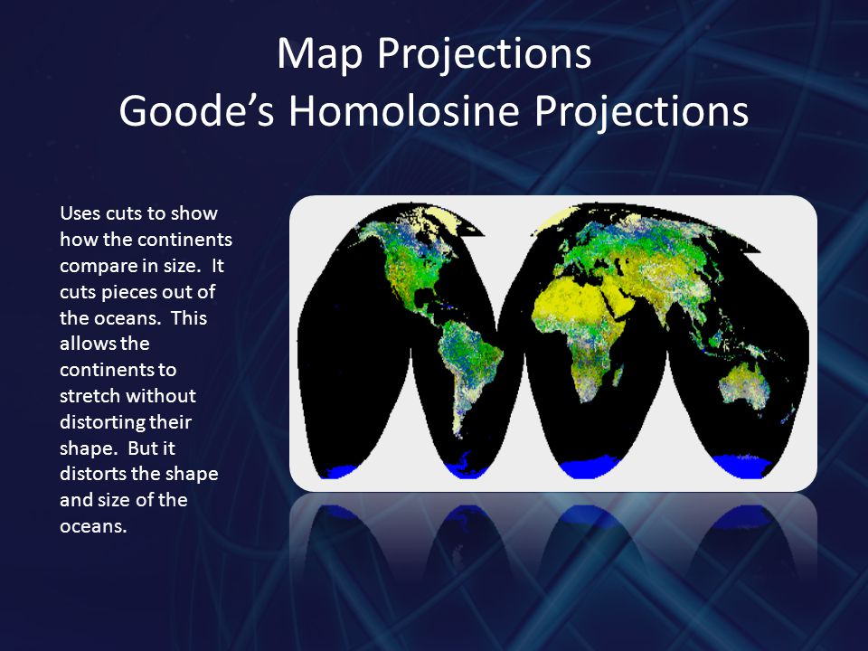 Map Projections Goode's Homolosine Projections