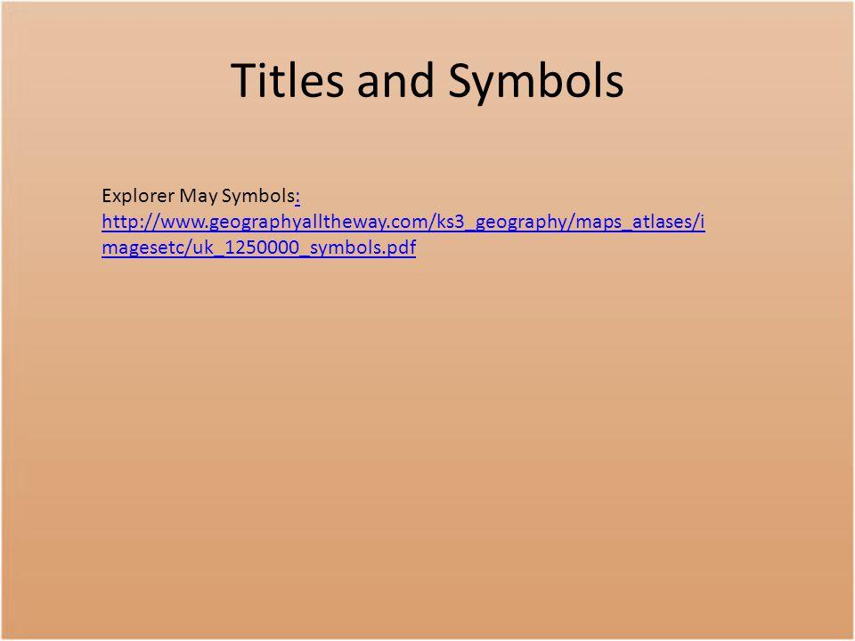 Titles and Symbols Explorer May Symbols: