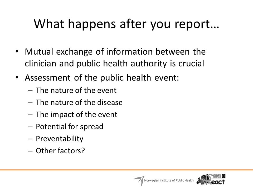 What happens after you report…
