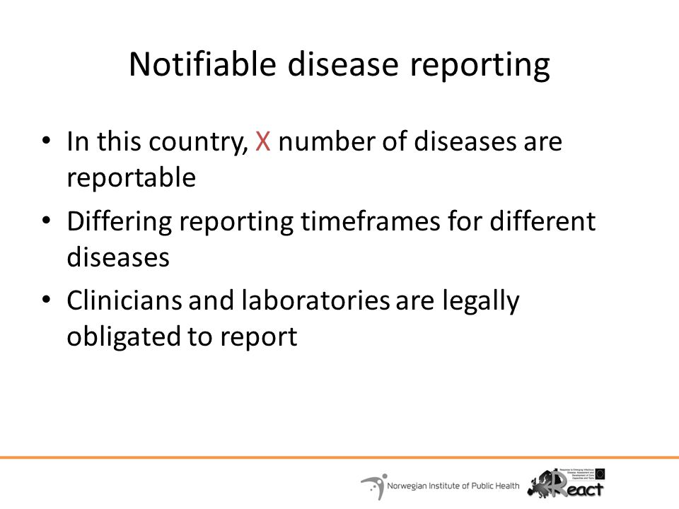 Notifiable disease reporting