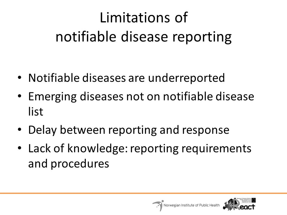 Limitations of notifiable disease reporting