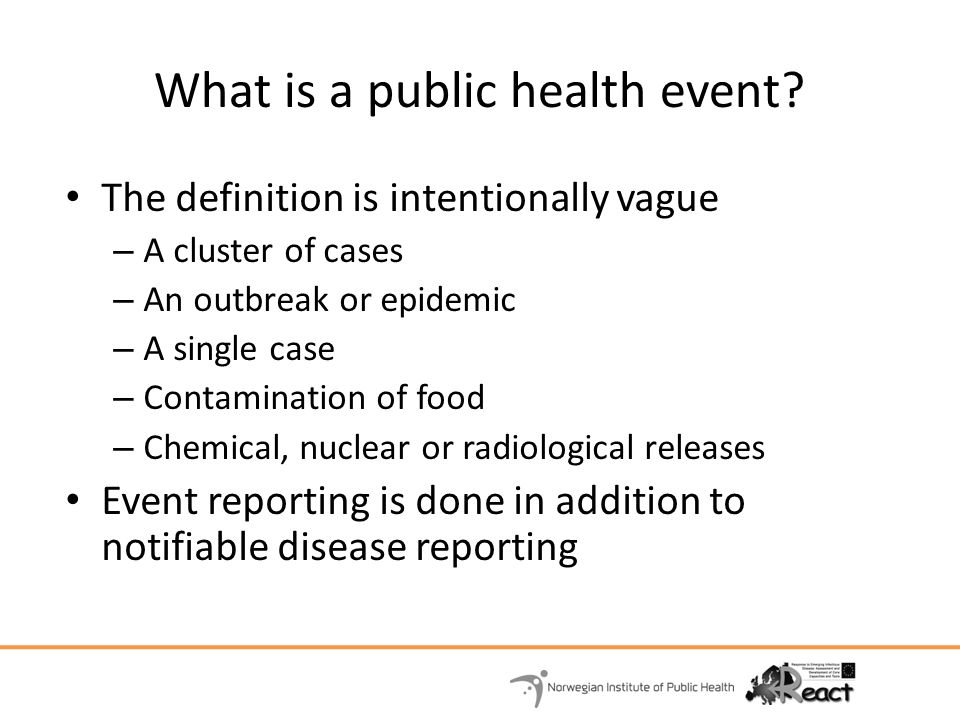 What is a public health event