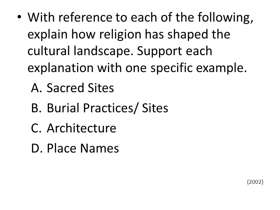 Burial Practices/ Sites Architecture Place Names