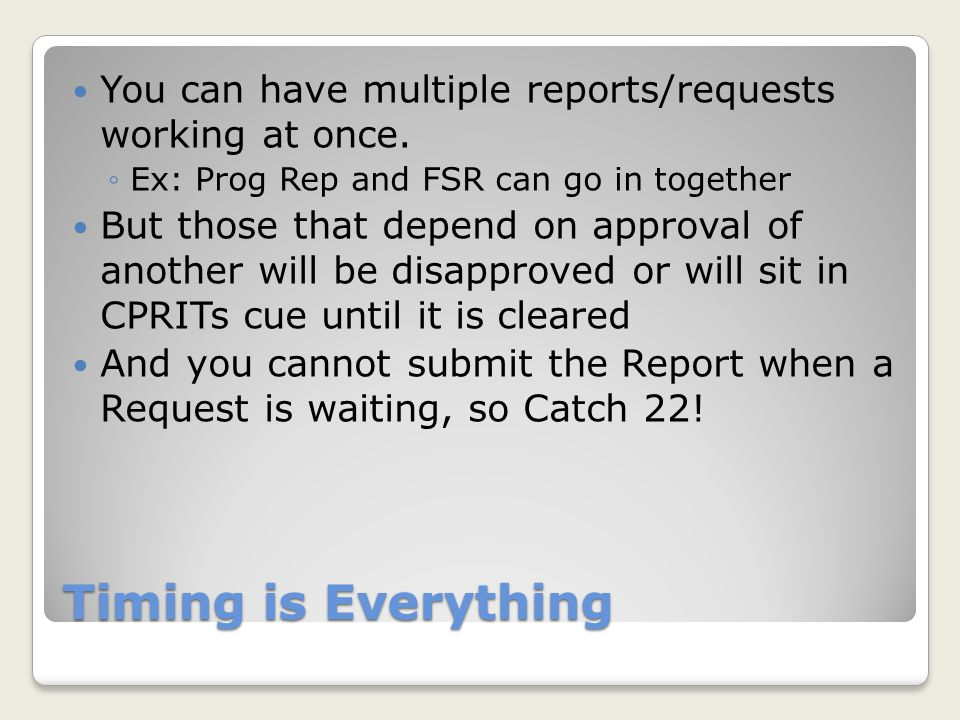 You can have multiple reports/requests working at once.