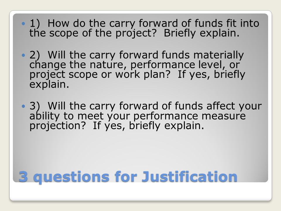 3 questions for Justification