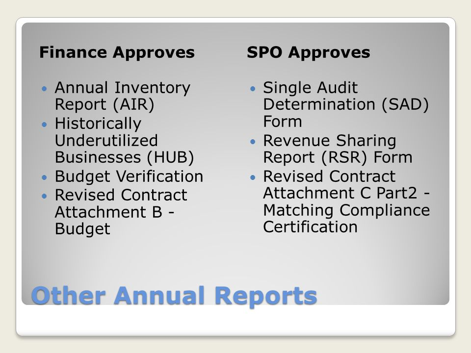 Other Annual Reports Finance Approves SPO Approves