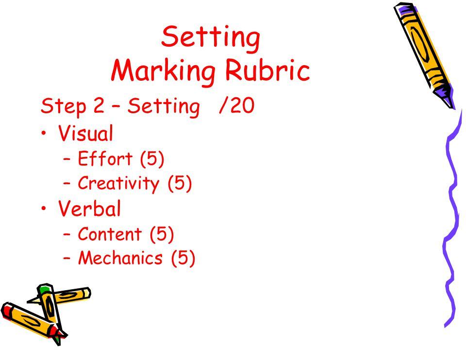 Setting Marking Rubric