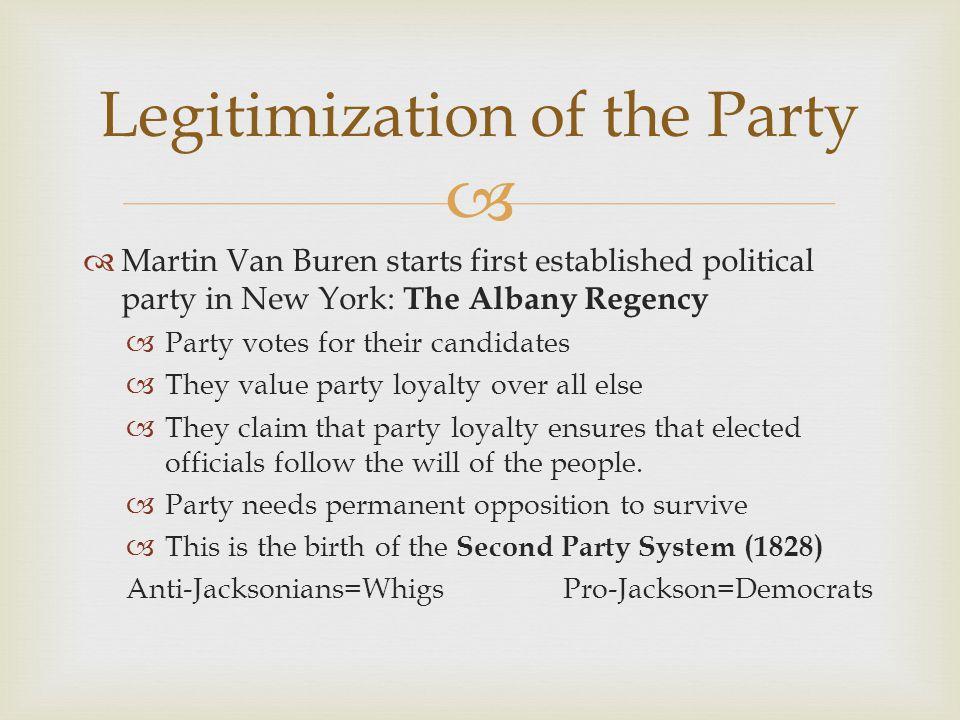 Legitimization of the Party