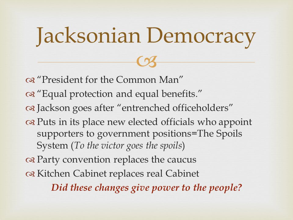Did these changes give power to the people