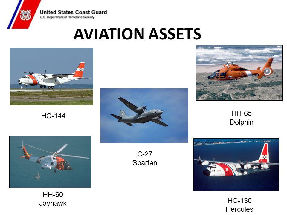 AVIATION ASSETS HH-65 HC-144 Dolphin C-27 Spartan HH-60 Jayhawk HC-130