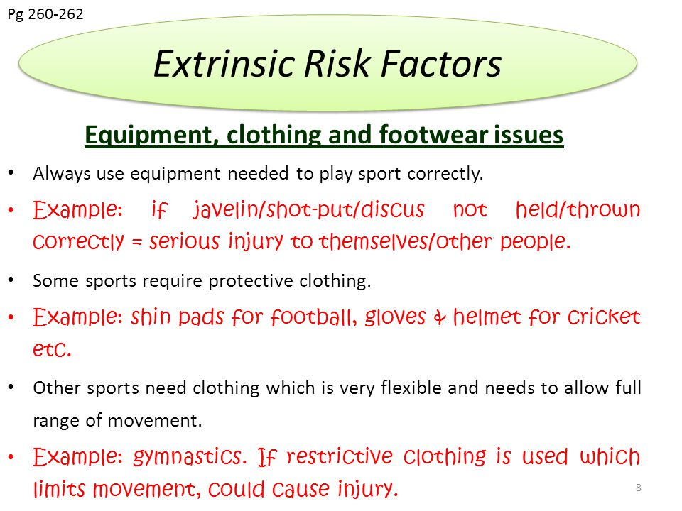 Equipment, clothing and footwear issues