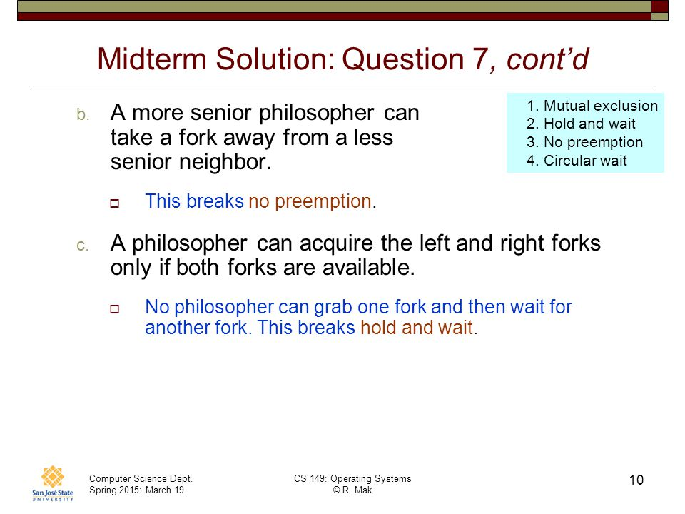 Midterm Solution: Question 7, cont'd