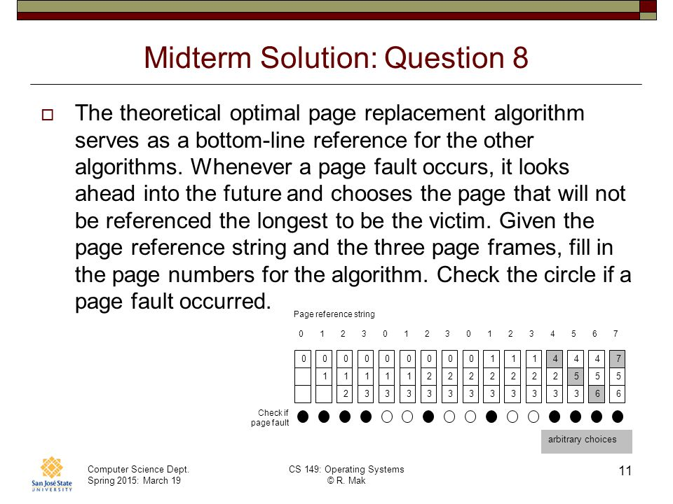 Midterm Solution: Question 8