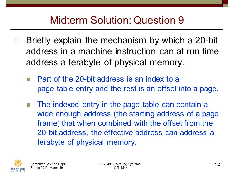Midterm Solution: Question 9