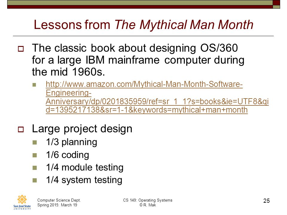Lessons from The Mythical Man Month
