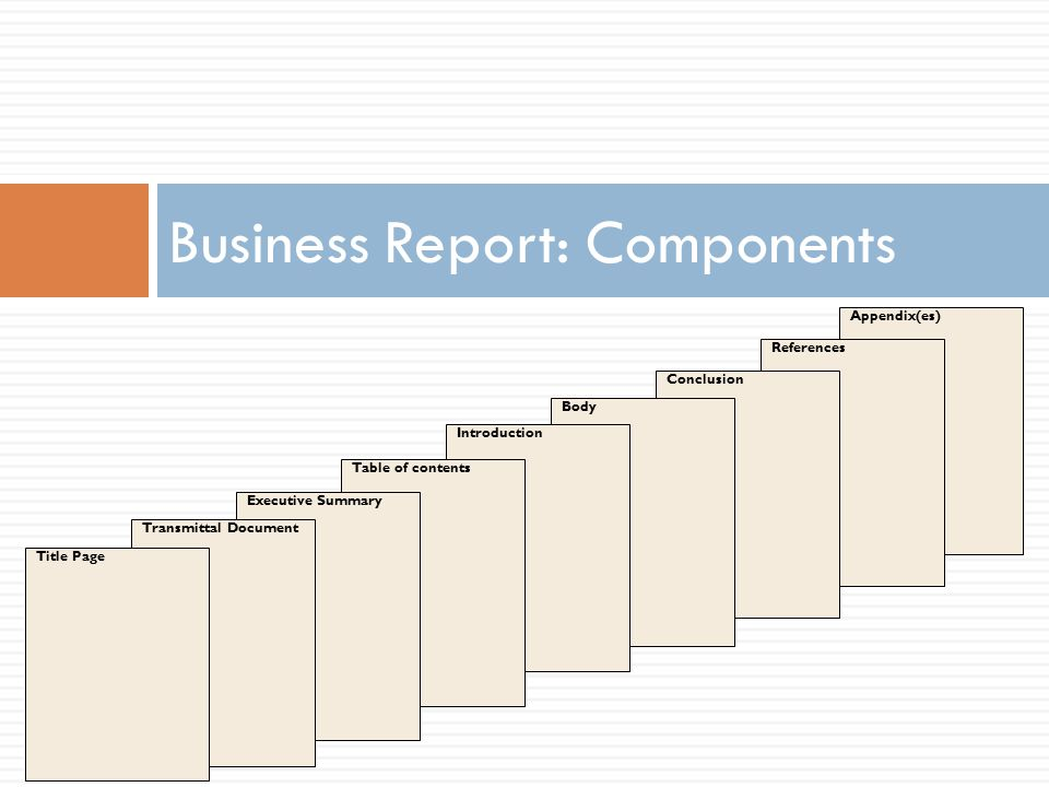 Business Report: Components