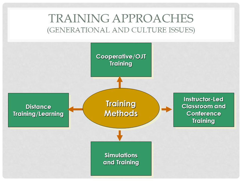 Training Approaches (generational and culture issues)