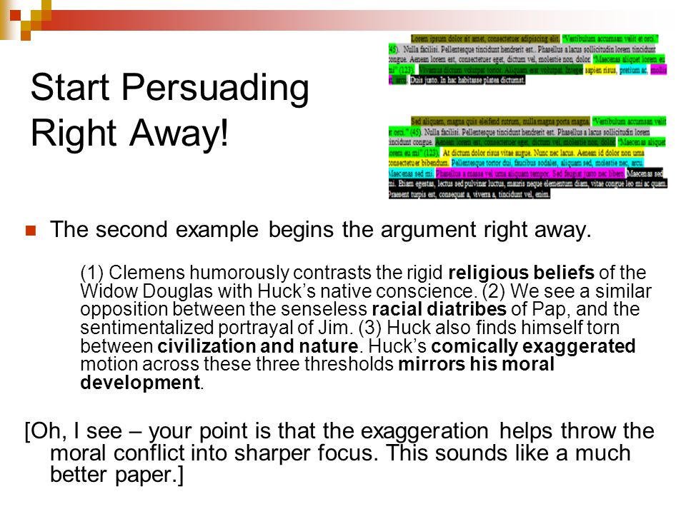 Start Persuading Right Away!