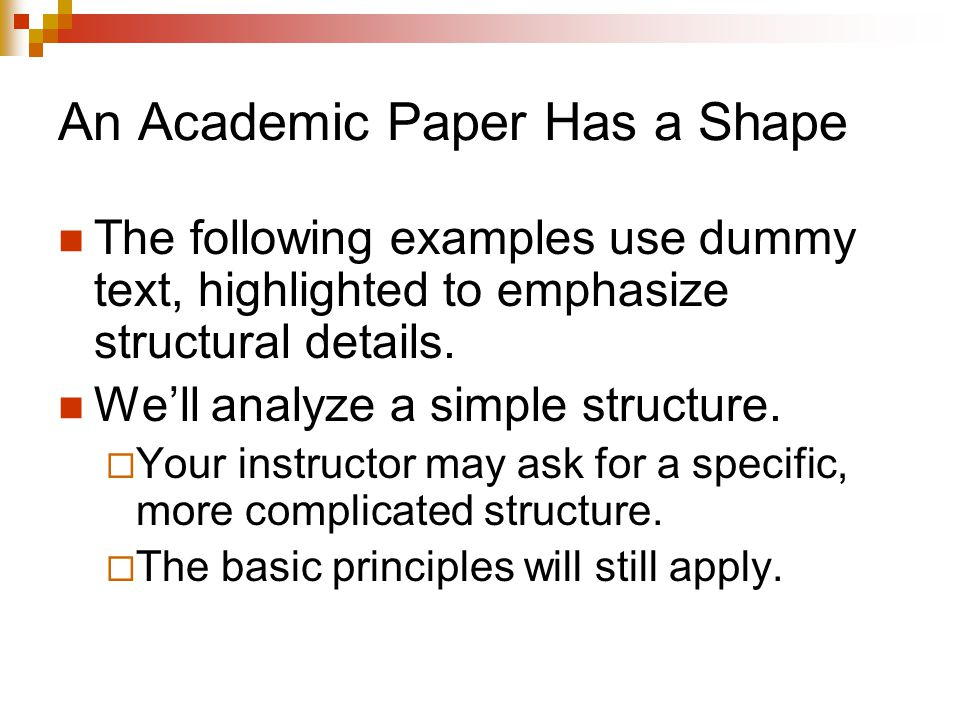 An Academic Paper Has a Shape