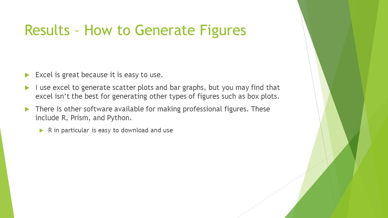 Results – How to Generate Figures