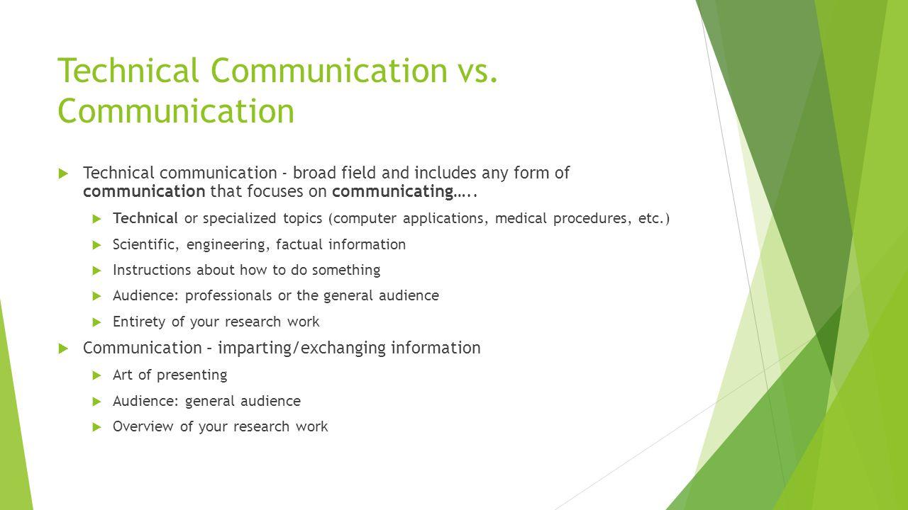 Technical Communication vs. Communication