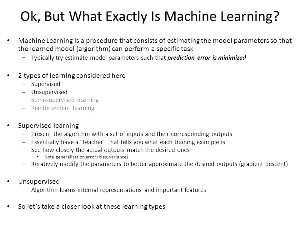 Ok, But What Exactly Is Machine Learning