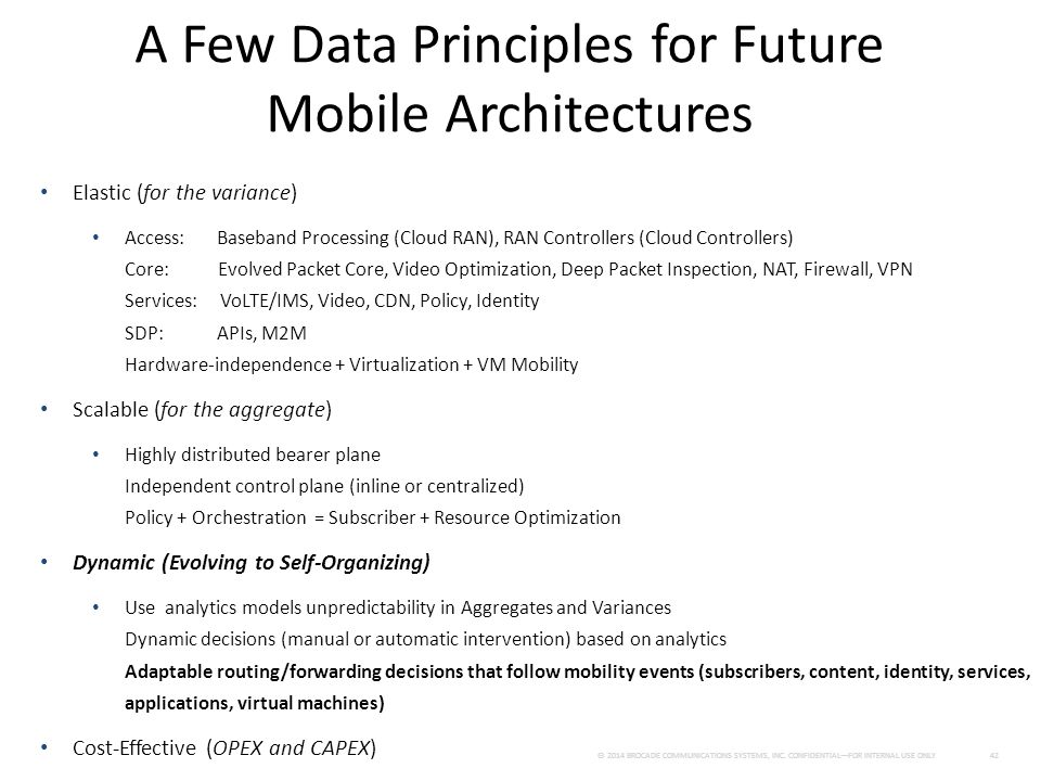 A Few Data Principles for Future Mobile Architectures